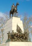 Virginia Memorial, Robert E. Lee Statue atop Virginia Monument, American Civil War Memorial, Gettysburg National Military Park, Gettysburg, Pennsylvania
