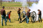 1st Ohio Artillery Firing Cannon, American Civil War, Gettysburg National Battlefield, Pennsylvania