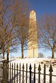 Bunker Hill Monument in Winter, Freedom Trail, Boston National Historical Park, Charlestown, Massachusetts
