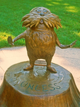 Lorax Statue at Dr. Seuss National Memorial Sculpture Garden, Springfield, Massachusetts