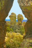 Punch & Judy Erosional Formation, Heart of Rocks, Chiricahua National Monument, Arizona