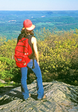 Hiker on Mt. Everett, Appalachian Trail, Berkshires, Mt. Washington, Massachusetts