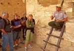 Ranger Tour, Balcony House Ruins, Ancestral Puebloan Anasazi Cliff Dwelling, Mesa Verde National Park, Colorado