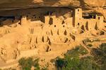 Cliff Palace Ruins, Ancestral Puebloan Cliff Dwelling, Mesa Verde National Park, Colorado