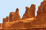 Park Avenue, Entrada Sandstone Erosional Formation, Arches National Park, Utah
