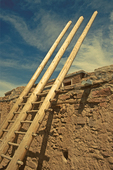 Ladder and Wall, Acoma Pueblo, Sky City, New Mexico