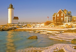 Annisquam Harbor Light in Winter, New England Lighthouse, Cape Ann, Wigwam Point, Annisquam, Gloucester, Massachusetts