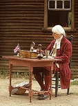 Colonial Magistrate Reenactor, 18th Century Justice, Colonial America, Minuteman National Historical Park, Lexington, Concord, Massachusetts