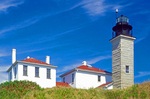 Beavertail Lighthouse, Conanicut Island, Beavertail State Park, Narragansett Bay, Jamestown, Rhode Island