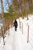 Hiking at Walden Pond in Winter, Walden Pond State Reservation, Concord, Massachusetts