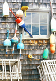 Lobster Shack, Lobster Buoys, Lobster Traps