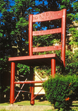 World's Largest Chair, Twelve Foot Tall Mission Chair, Heywood-Wakefield, Gardner, Massachusetts
