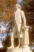 James Monroe Statue, President James Monroe House, Eighteenth Century Colonial Architecture, Charlottesville, Virginia