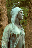 Pocahontas Statue, Historic Jamestowne, Colonial National Historical Park, Jamestown, Virginia