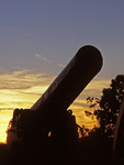 Cannon Silhouette at Sunset, Manassas National Battlefield Park, American Civil War, Virginia