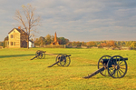 Cannons and Henry House, Henry Hill, Manassas National Battlefield, Virginia