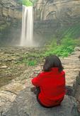 Hiker, Taughannock Falls, Taughannock Falls State Park, Ulysses, New York