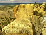 Inscription Rock, Sandstone Rock Formation, El Morro National Monument, New Mexico