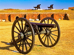Cannon on Parade Ground and Ramparts, Fort Clinch State Park, Fernandina Beach, Jacksonville, Florida