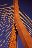 Leonard Zakim Bunker Hill Bridge, Cable-stayed Bridge, Boston, Massachusetts