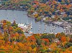 Camden Harbor from Mt. Battie, Camden, Maine