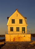 Rockland Harbor Breakwater Light, Colonial Revival Architectural Style Lighthouse, Rockland, Maine