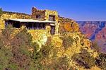 Lookout Studio, Architect Mary Jane Colter, Kaibab limestone, Grand Canyon National Park, Arizona