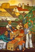 Farming Mural in Coit Tower, San Francisco, California