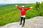 Hiker in Minnewaska State Park Preserve, Shawangunk Ridge, New York