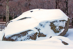 Boise Rock Glacial Erratic in Winter, Franconia Notch State Park, White Mountains, New Hampshire