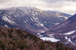 Franconia Notch from Bald Mountain in Winter, Glacially Carved U-Shaped Valley, Franconia Notch State Park, White Mountains, New Hampshire