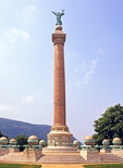 Battle Monument, Civil War Memorial, Polished Granite Doric Column, Trophy Point, Designed by Stanford White, United States Military Academy, West Point, New York