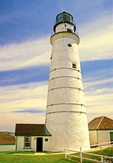 Boston Light, First American Lighthouse, Little Brewster Island, Boston Harbor Islands, Massachusetts