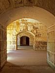 Interior Corridors, Fort Warren Civil War Fort, George's Island, Boston Harbor Islands National Recreation Area, Boston, Massachusetts