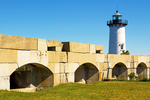 Fort Constitution Granite Walls and Light, Portsmouth Harbor Lighthouse, New Castle, New Hampshire