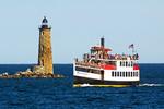 Whaleback Light, Thomas Lannon Ferry Boat, Portsmouth Harbor, New Hampshire
