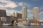 Rowes Wharf, Ships in Boston Harbor, Boston, Massachusetts