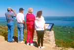 People on Cadillac Mountain Viewing Frenchman Bay and Bar Harbor, Acadia National Park, Mount Desert Island, Maine