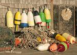 Lobster Buoys and Traps, Lobster Shack, Bernard Harbor, Maine