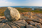 Glacial Erratic Boulder on Penobscot Mountain, Acadia National Park, Mount Desert Island, Maine