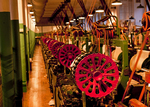 Historic Textile Looms, Boott Mills Museum, Lowell National Historical Park, Lowell, Massachusetts