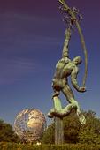 Rocket Thrower Statue, Unisphere, 1964 World's Fair, Flushing Meadows Corona Park, Queens, New York