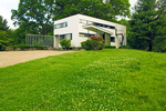 Gropius House in Summer, International Style Bauhaus Architectural Style, twentieth century Architecture, Lincoln, Massachusetts