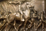 Robert Gould Shaw and 54th Massachusetts Volunteer Regiment Memorial Sculpture, Shaw Memorial, Augustus Saint-Gaudens Sculptor, Boston African-American National Historic Site, Boston, Massachusetts