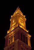 Illuminated Custom House at Night, Boston, Massachusetts