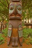Tlingit Native American Indian Totem Pole, Pioneer Square, Seattle, Washington