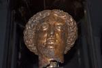 Cast and Gilded Bronze head of the Goddess Sulis Minerva, Roman Baths, Aquae Sulis, Bath, England, United Kingdom
