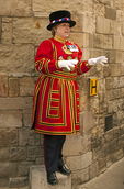 Beefeater, Yeomen Warder, Tower of London, Her Majesty's Royal Palace and Fortress, London, England, United Kingdom