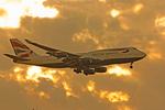 British Airways Airplane in Flight