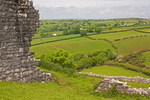 Carreg Cennen Castle Fields, Castell Carreg Cennen, Brecon Beacons National Park, Trapp, Llandeilo, Carmarthenshire, Wales, United Kingdom, Great Britain